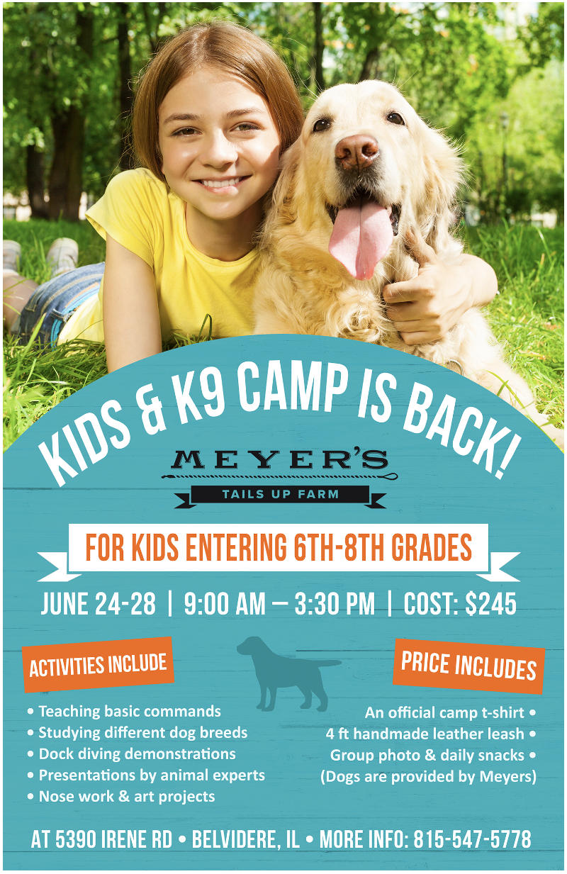 Kids & K-9 Camp at Meyer's Tails up Farm